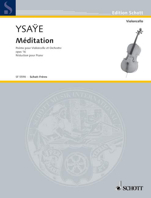 Méditation Opus 16 - Eugène Ysaÿe - Partition - laflutedepan.com