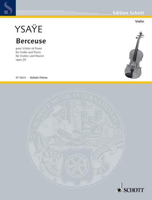 Eugène Ysaÿe - Lullaby Opus 20 - Partition - di-arezzo.co.uk