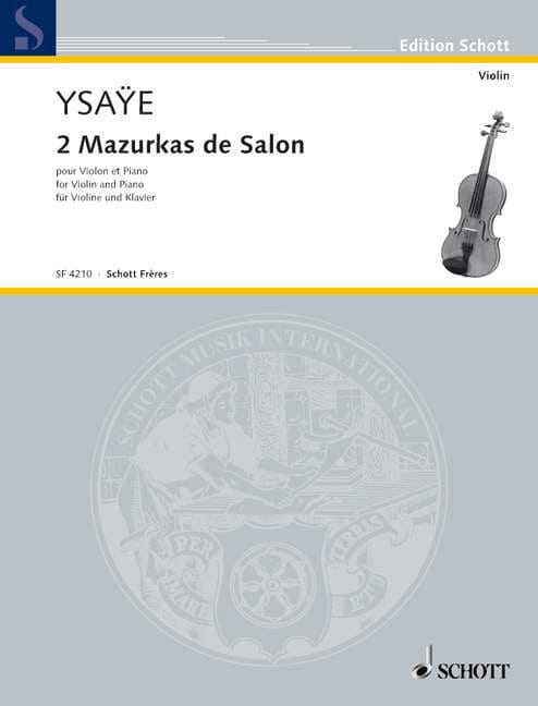 Eugène Ysaÿe - 2 Mazurkas of Salon - Partition - di-arezzo.co.uk