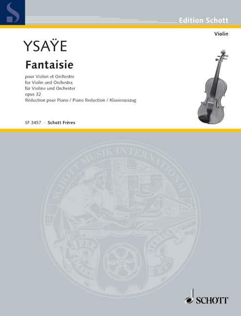 Eugène Ysaÿe - Fantasy Opus 32 - Partition - di-arezzo.co.uk