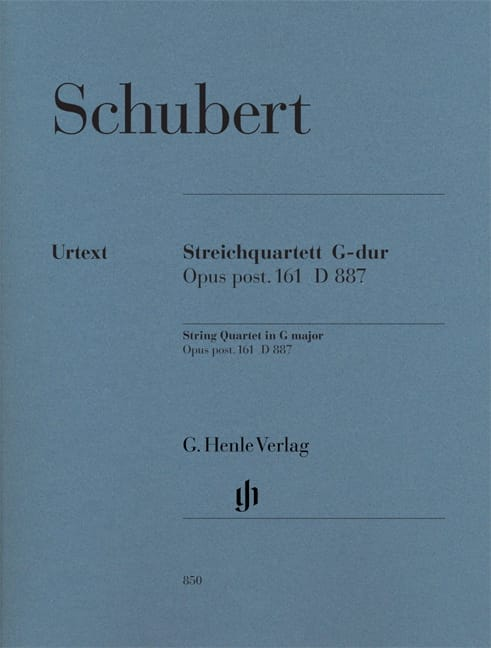 SCHUBERT - String Quartet in G Major Op. Post. 161 D 887 - Partition - di-arezzo.co.uk