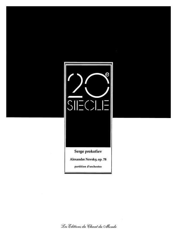 Serge Prokofiev - Alexander Nevsky Opus 78 - Partition - di-arezzo.es