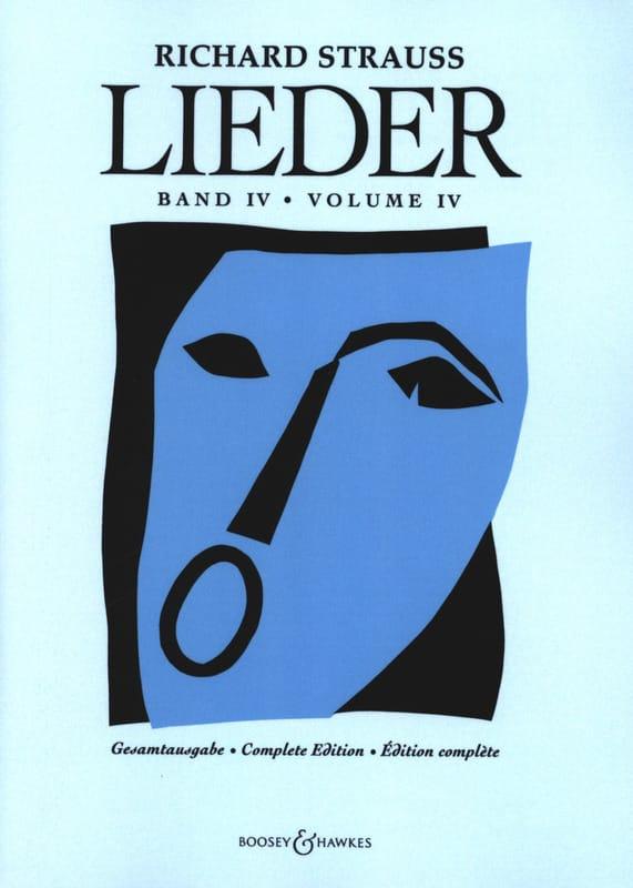 Richard Strauss - Lieder Volume 4 - Full Score - Partition - di-arezzo.co.uk