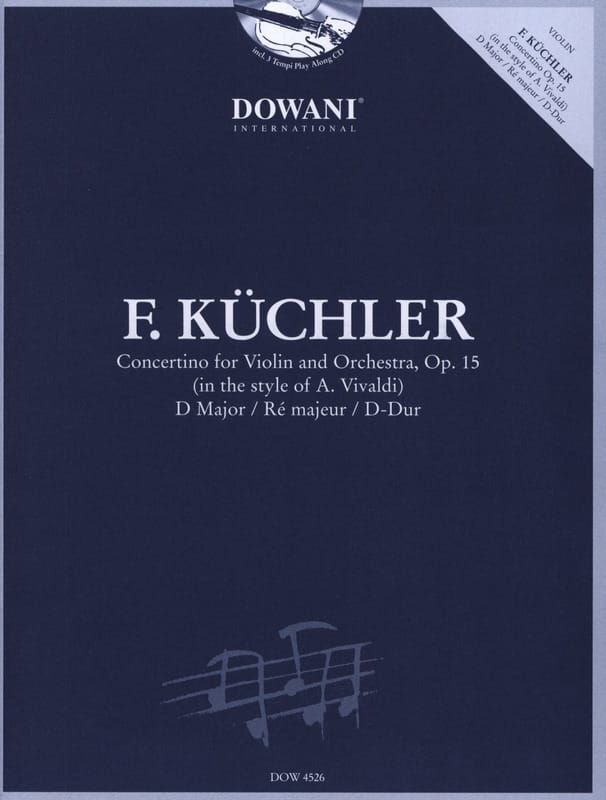 Concertino en Ré Maj. Op.15 - Ferdinand Küchler - laflutedepan.com
