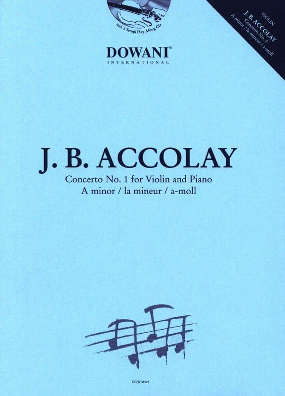 Jean-Baptiste ACCOLAY - Concerto No. 1 In the Min. - Partition - di-arezzo.co.uk
