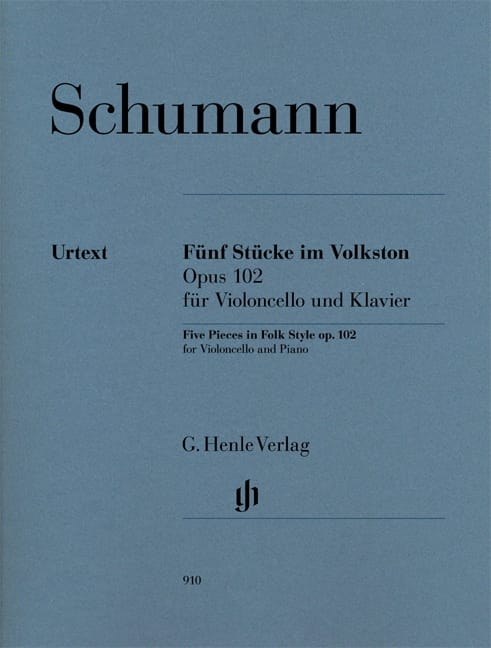 SCHUMANN - 5 Pieces In Popular Style Op. 102 - Partition - di-arezzo.co.uk