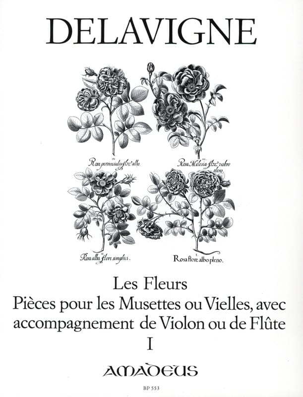 Les Fleurs Op. 4 - Volume 1 - Philibert Delavigne - laflutedepan.com
