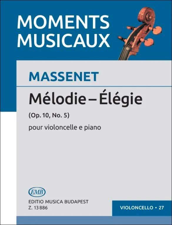 Jules Massenet - Elégie - Partition - di-arezzo.fr