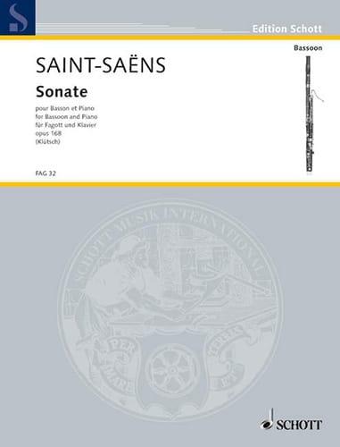 Camille Saint-Saëns - Sonata, Opus 168 - Partition - di-arezzo.com