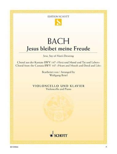 BACH - Jesus Bleibet Meine Freude - Cello - Partition - di-arezzo.com