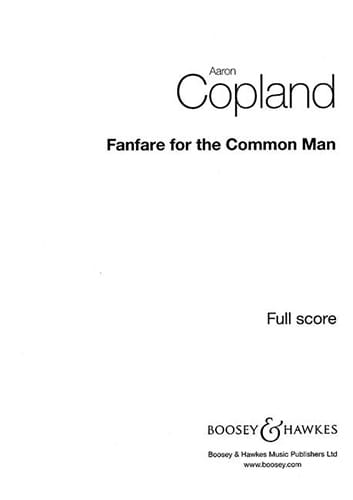 Aaron Copland - Fanfare For The Common Man - Partition - di-arezzo.co.uk