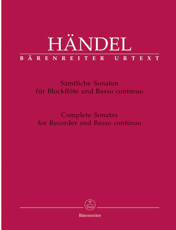 HAENDEL - Complete Sonatas for Recorder and BC - Partition - di-arezzo.co.uk