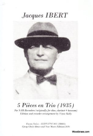 5 Pièces En Trio 1935 - IBERT - Partition - laflutedepan.com