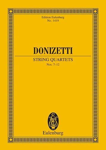 String Quartets N°7-12 - DONIZETTI - Partition - laflutedepan.com