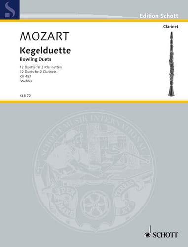 MOZART - Kegelduette Kv 487 - Partition - di-arezzo.co.uk