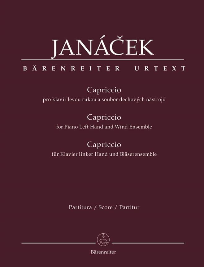 Leos Janacek - caprice - Partition - di-arezzo.co.uk