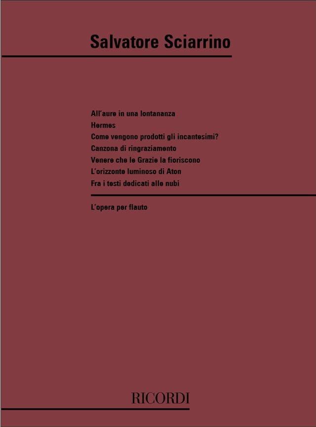 L'Opera per Flauto - Salvatore Sciarrino - laflutedepan.com