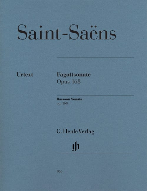 Camille Saint-Saëns - Sonata for Bassoon op. 168 - Partition - di-arezzo.com