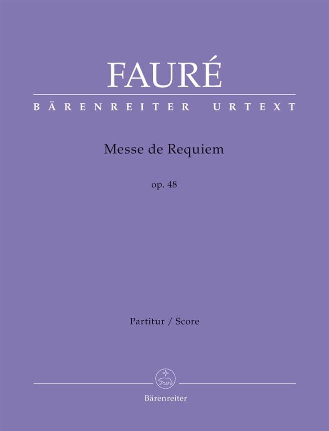 Gabriel Fauré - Requiem, Opus 48 - Partition - di-arezzo.com