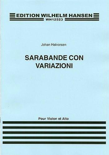 Sarabande Con Variazioni - Johan Halvorsen - laflutedepan.com