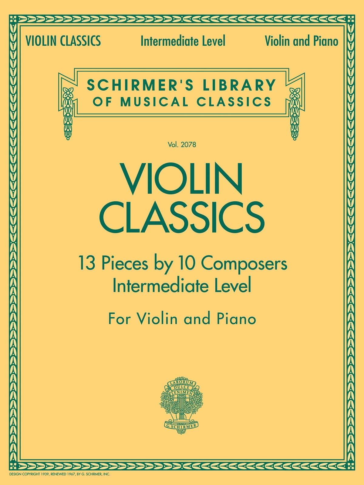 Violin Classics 13 Pieces by 10 Composers - laflutedepan.com