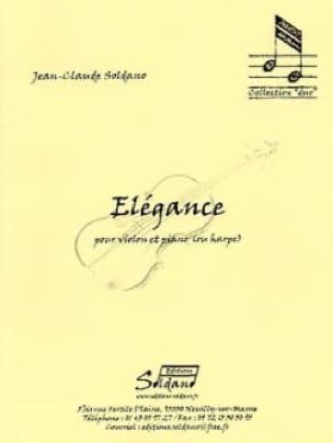 Elégance - Jean-Claude Soldano - Partition - Violon - laflutedepan.com