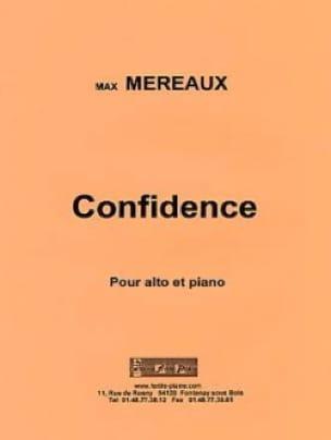 Confidence - Max Méreaux - Partition - Alto - laflutedepan.com