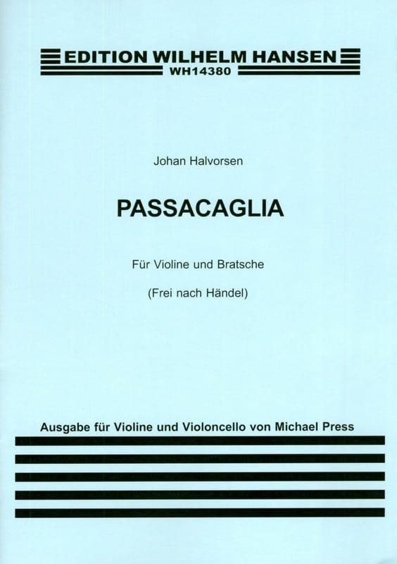 Passacaglia - HAENDEL - Partition - 0 - laflutedepan.com