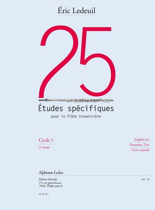 Eric Ledeuil - 25 Specific Studies For The Flute - Partition - di-arezzo.com