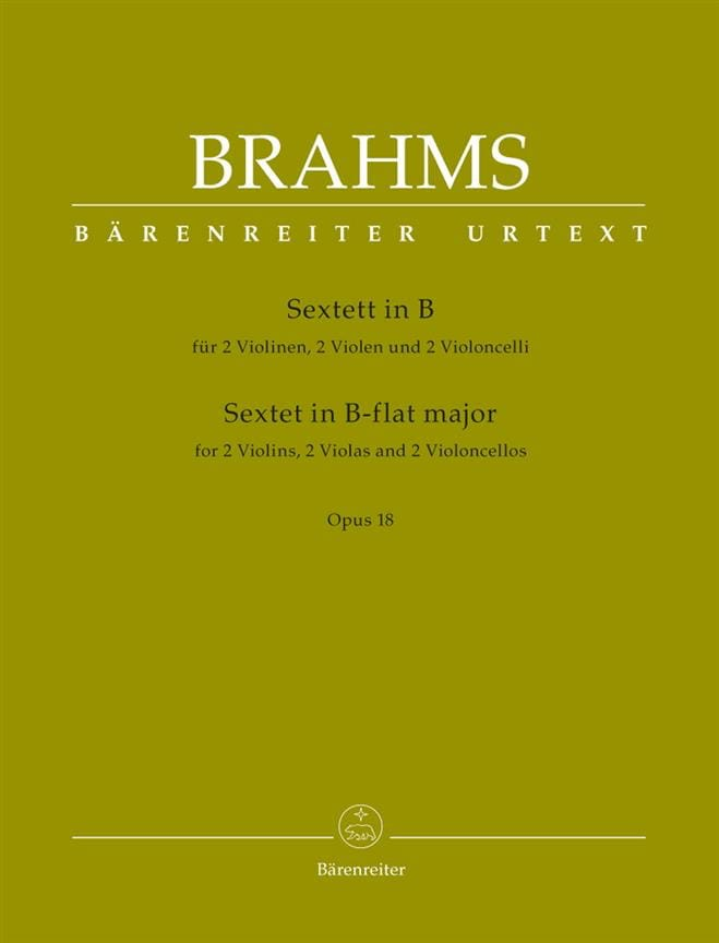 BRAHMS - String Sextet in Bb Maj. Opus 18 - Partition - di-arezzo.com