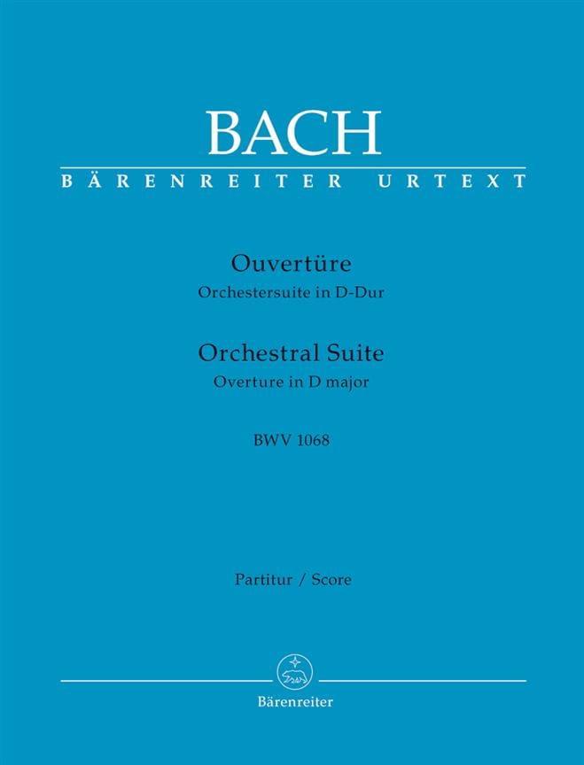 Orchestral Suite Ouverture BWV 1068 - BACH - laflutedepan.com