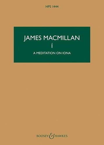 James MacMillan - I - A Meditation On Iona - Partition - di-arezzo.com