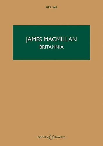 James MacMillan - Britannia - Partition - di-arezzo.com