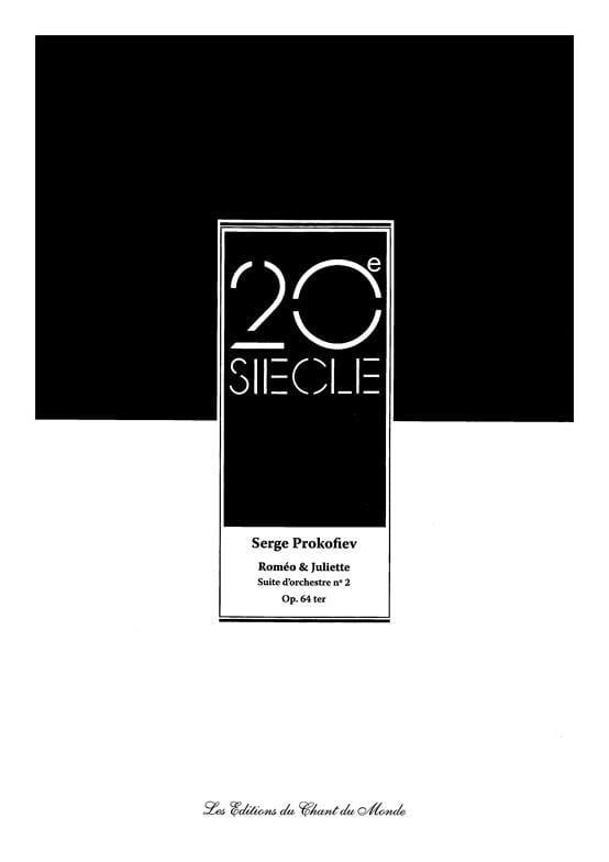 Serge Prokofiev - Romeo y Julieta - Orchestra Suite N ° 2 Opus 64ter - Partition - di-arezzo.es