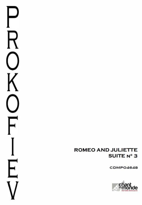 Serge Prokofiev - Romeo y Julieta - Suite Orquesta N ° 3 Opus 101 - Partition - di-arezzo.es