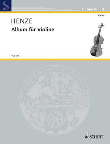 Album Für Violine - Hans Werner Henze - Partition - laflutedepan.com