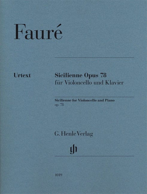 Gabriel Fauré - Sicilian Opus 78 - Partition - di-arezzo.com
