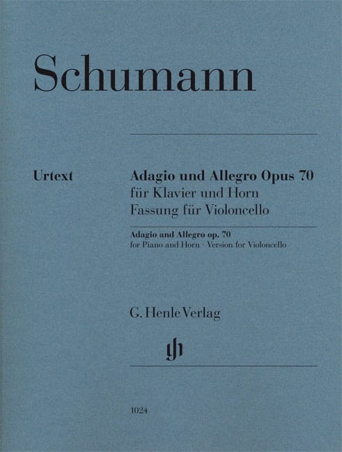 SCHUMANN - Adagio and Allegro op. 70, version for cello and piano - Partition - di-arezzo.co.uk
