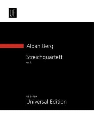 Alban Berg - Streichquartett Op.3 1910 - Partition - di-arezzo.com