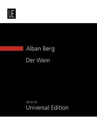 Alban Berg - Der Wein 1929 - Partition - di-arezzo.com