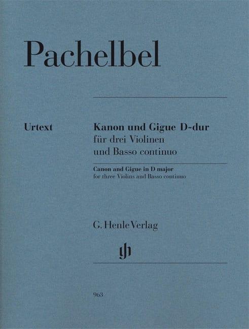 Canon et Gigue en Ré Majeur - PACHELBEL - Partition - laflutedepan.com