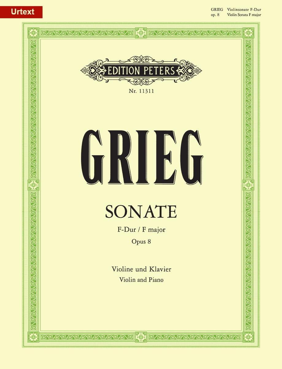 Edvard Grieg - Sonata en Fa mayor Opus 8 - Partition - di-arezzo.es