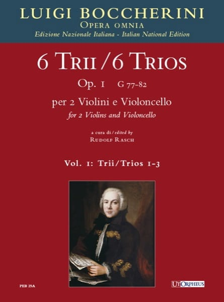 BOCCHERINI - 6 Trios Op.1 - Volume 1 - Partition - di-arezzo.co.uk