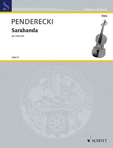Krzysztof Penderecki - Sarabanda - Partition - di-arezzo.co.uk