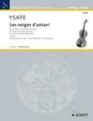 Eugène Ysaÿe - The Snow of Antan Op.23 - Partition - di-arezzo.co.uk