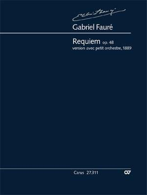Requiem Op. 48 - FAURÉ - Partition - Grand format - laflutedepan.com