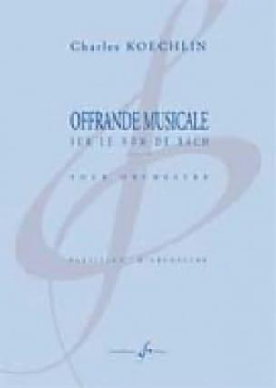 Offrande Musicale sur le Nom de Bach Op.187 - laflutedepan.com