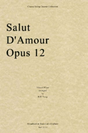 Salut D'amour Op 12 Score & Parts - ELGAR - laflutedepan.com