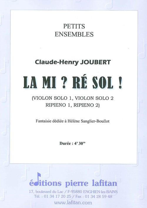 Claude-Henry Joubert - Mi?レソル! - Partition - di-arezzo.jp