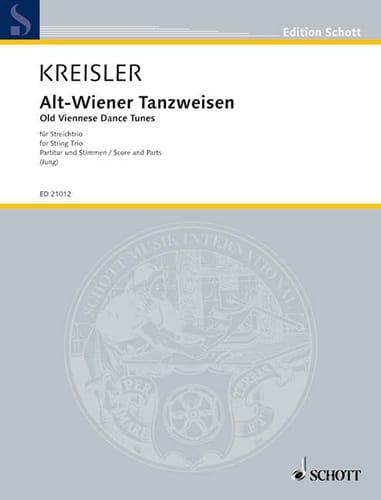 Alt Weiner Tanzweisen - trio - KREISLER - Partition - laflutedepan.com